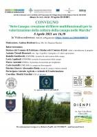 """Presentazione del Progetto """"Rete Canapa: creazione di filiere multifunzionali per la valorizzazione della coltura della canapa nelle Marche"""