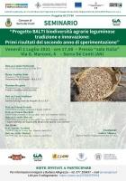 Progetto BALTI biodiversità agrarie leguminose tradizione e innovazione: Primi risultati del secondo anno di sperimentazione