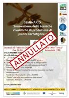 ANNULLATO: Innovazione delle tecniche vivaistiche di produzione di piante tartufigene
