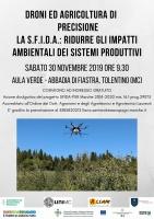 Droni ed Agricoltura di Pecisione. La S.F.I.D.A: ridurre gli impatti ambientali dei sistemi produttivi